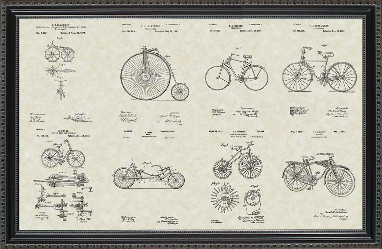 Bicycle Patents, 20x30
