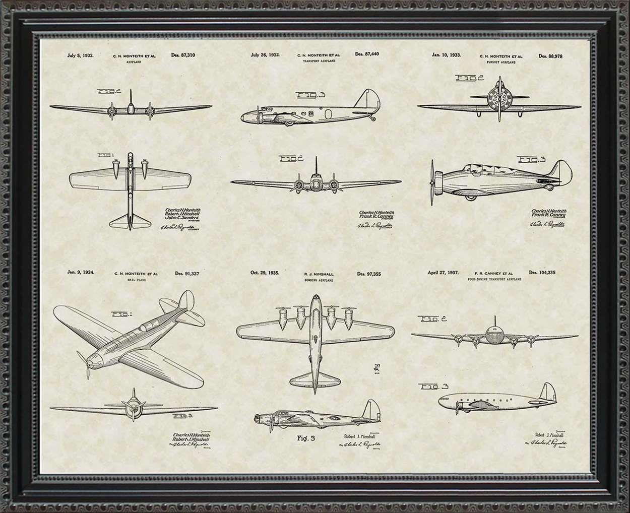 Boeing Aircraft Patents, 20x24