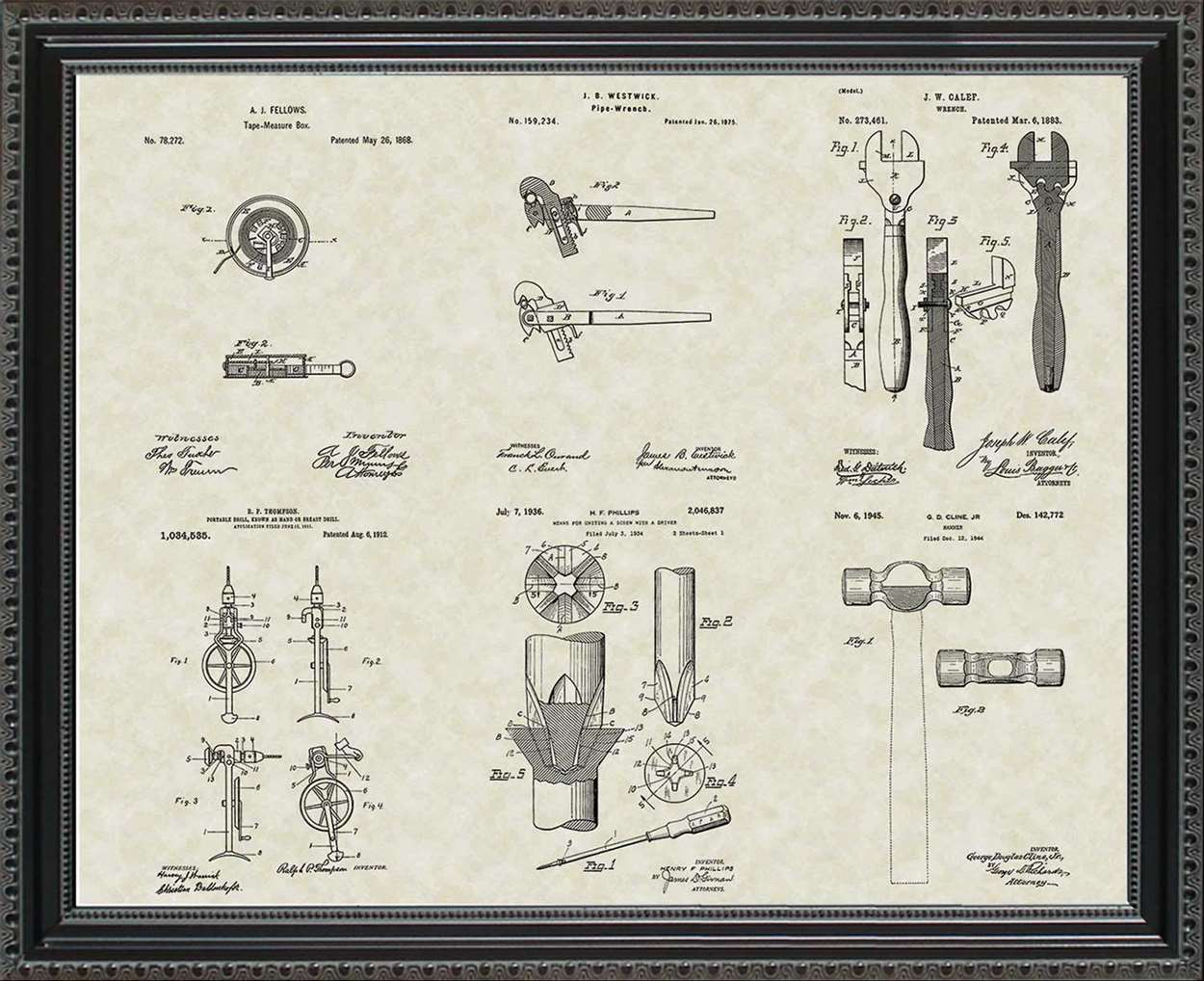 Construction Tool Patents, 20x24