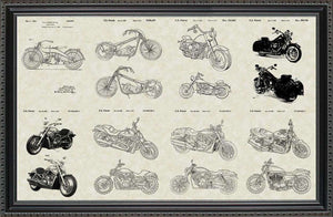Harley-Davidson Motorcycles Patents, 20x30