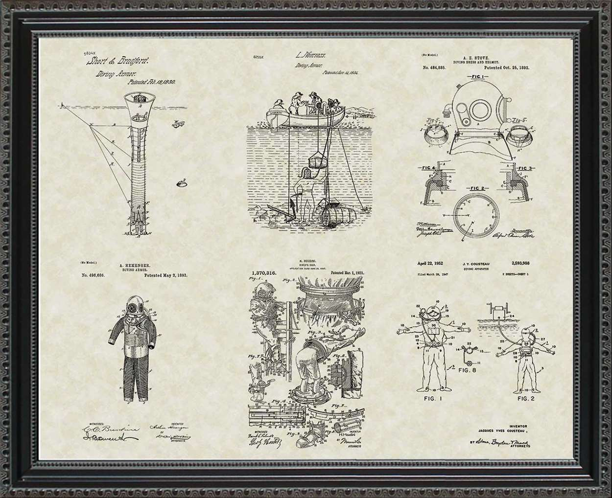 Scuba Diving Patents, 20x24