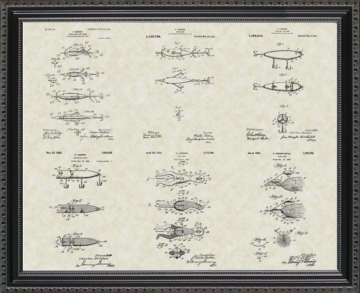Fishing Lure Patents, 20x24
