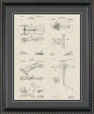 Henry Ford's Model-T Patents, 16x20