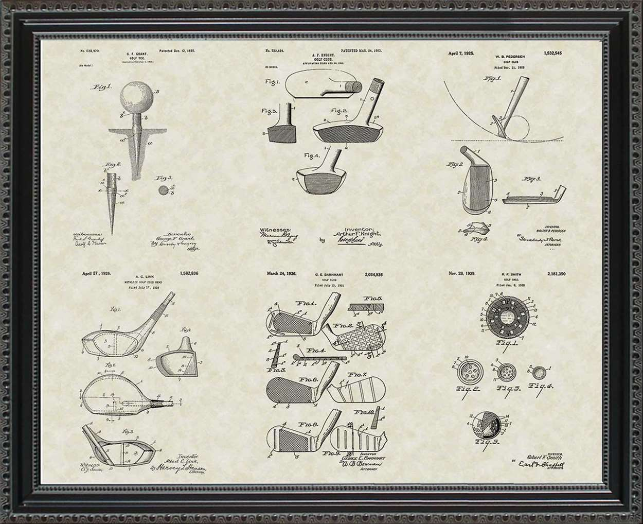 Golf Patents, 20x24