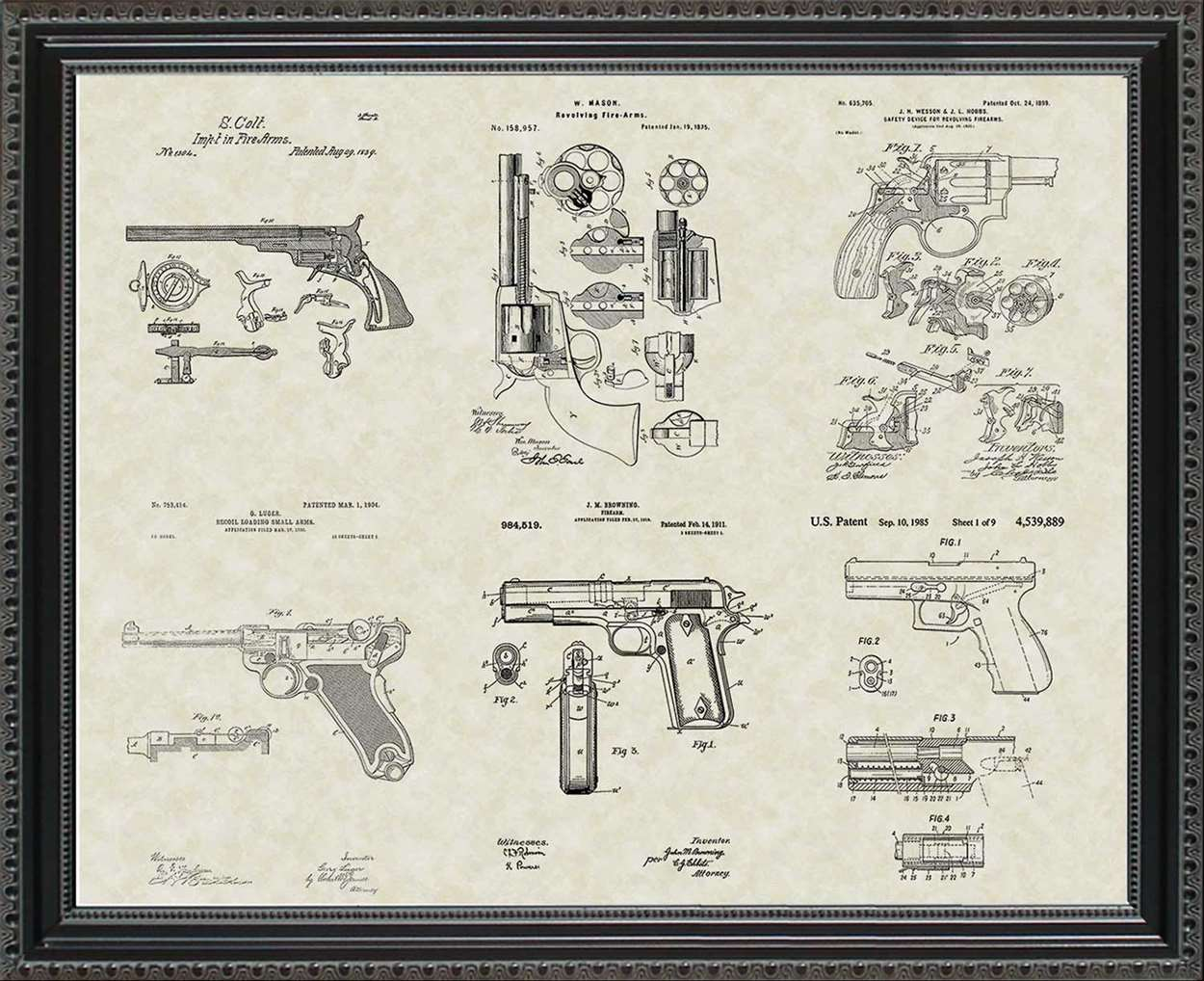 Handgun Patents, 20x24