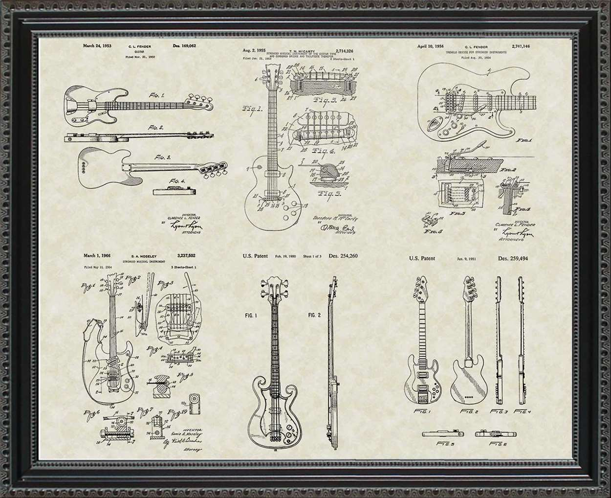 Guitar Patents, 20x24