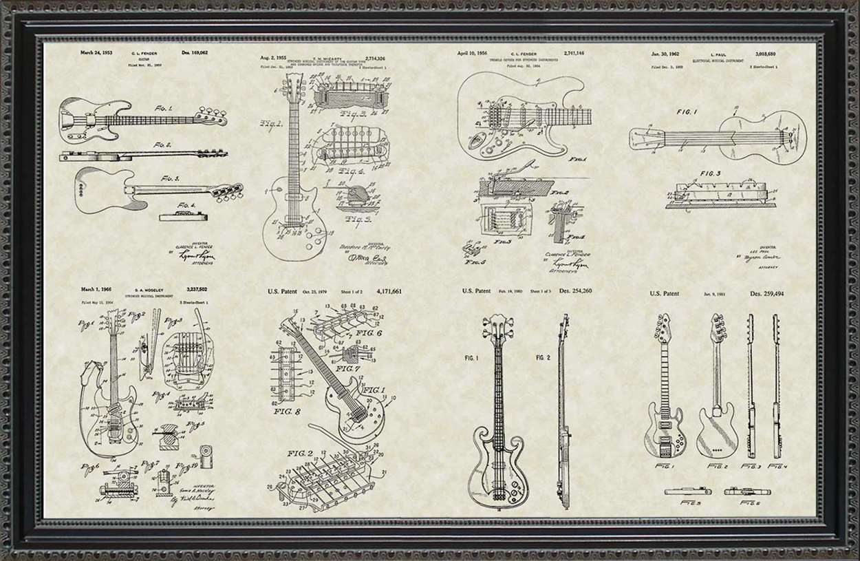 Guitar Patents, 20x30