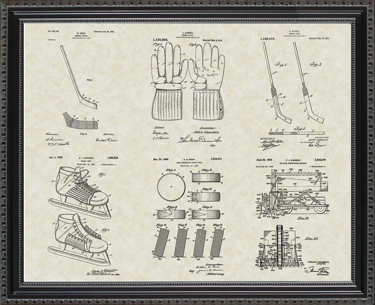 Hockey Patents, 20x24