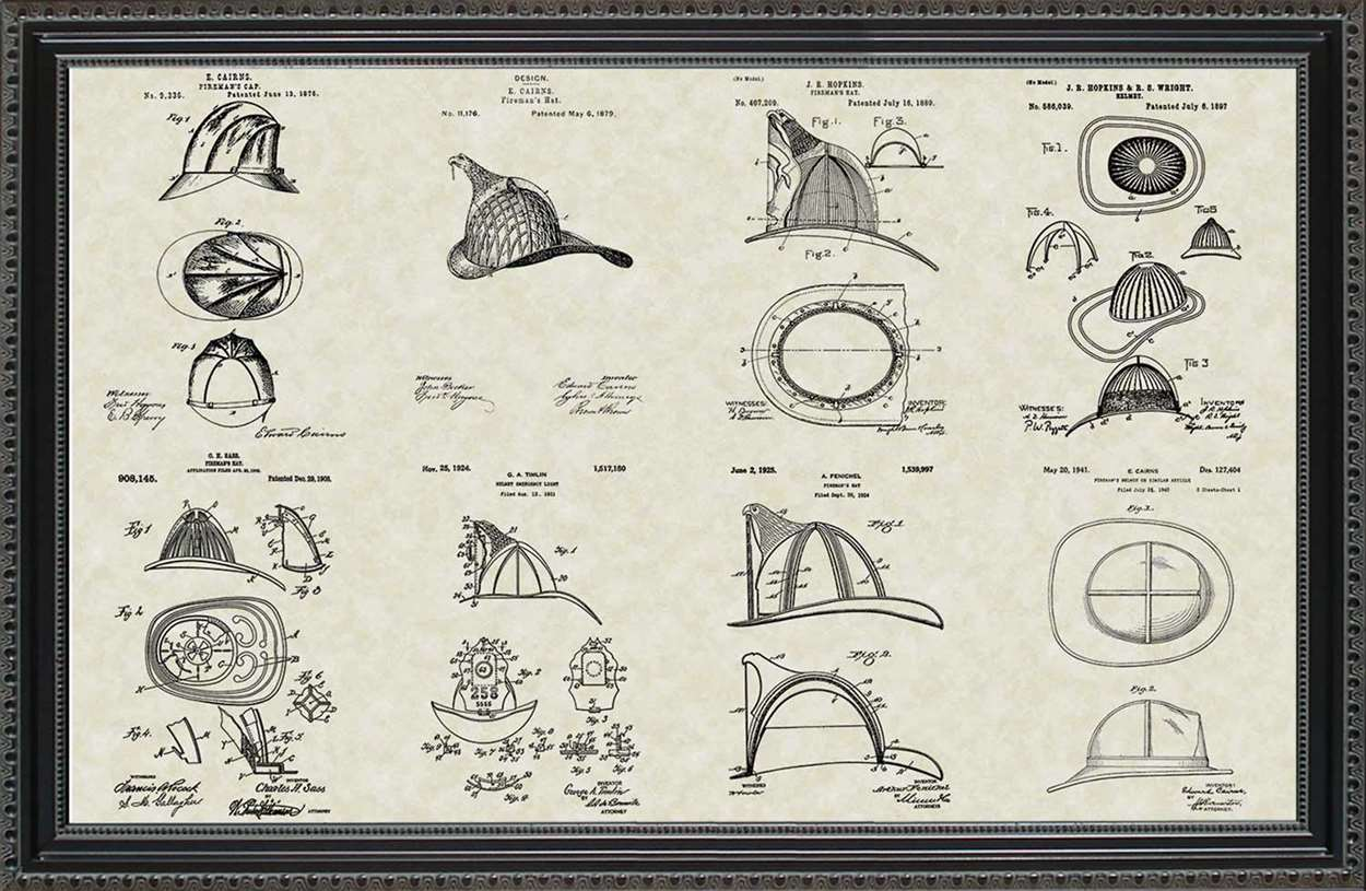 Firefighter Helmet Patents, 20x30