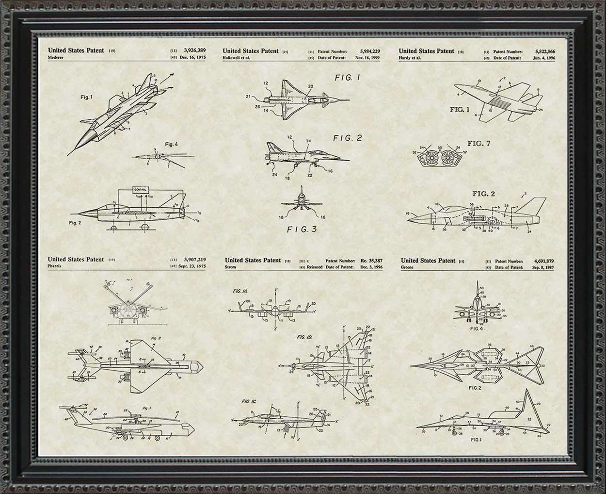 Jet Aircraft Patents, 20x24