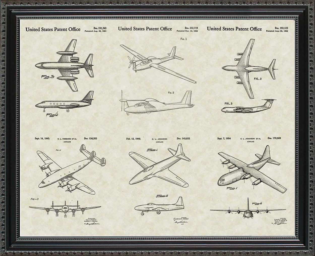 Lockheed-Martin Aircraft Patents, 20x24