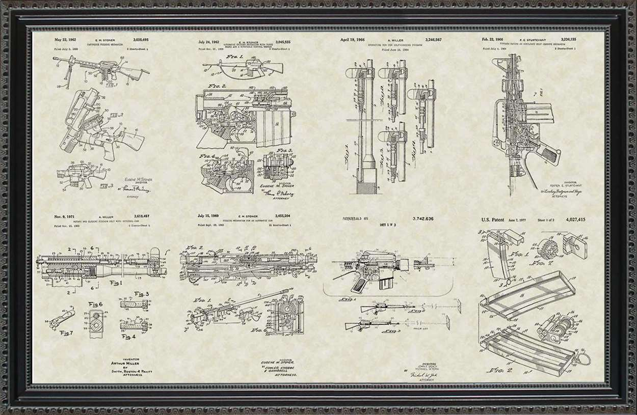 M-16 Military Rifle Patents, 20x30