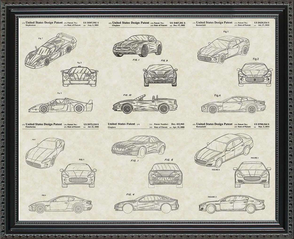 Maserati Patents, 20x24