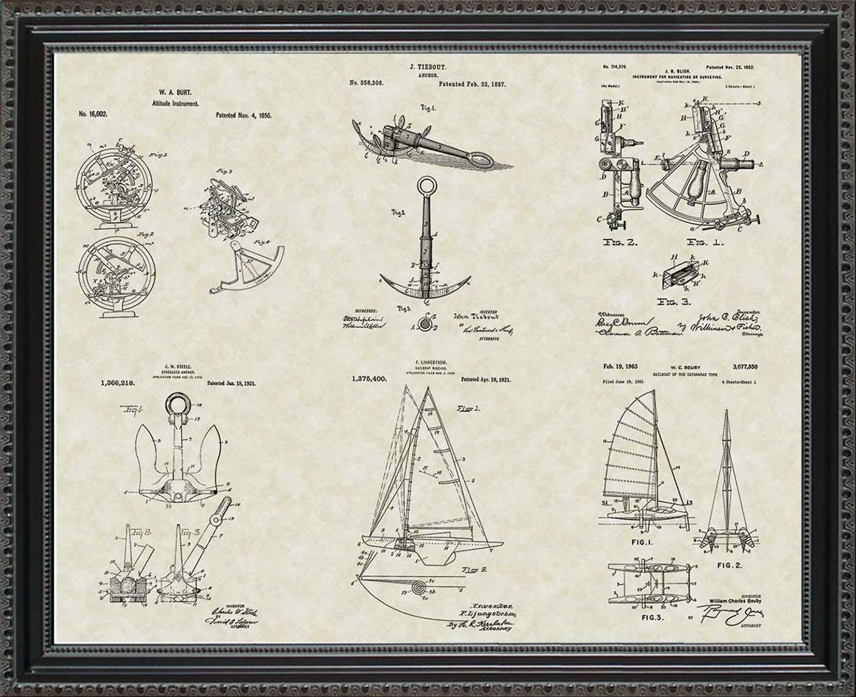 Nautical Patents, 20x24