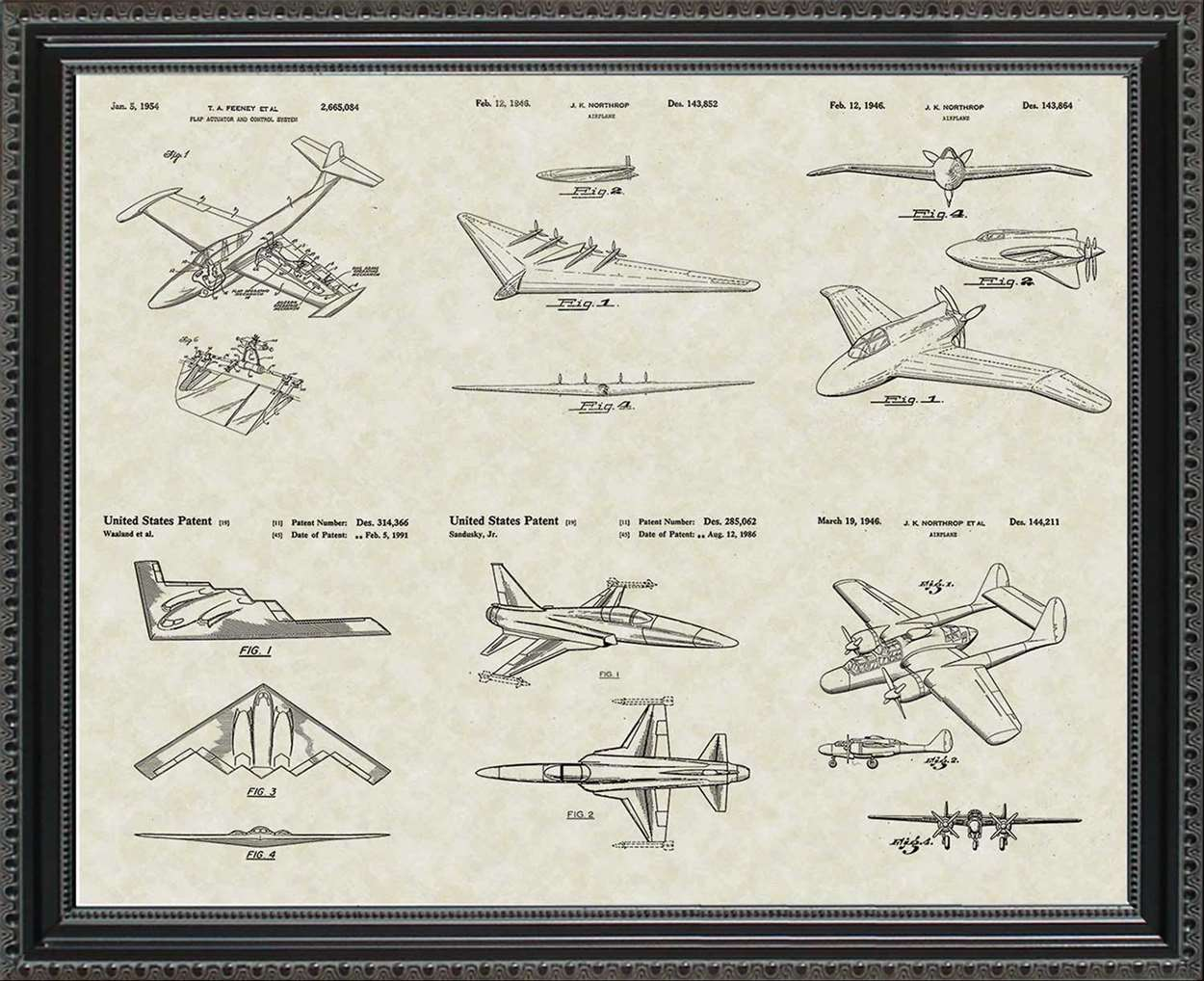 Northrup-Grumman Aircraft Patents, 20x24