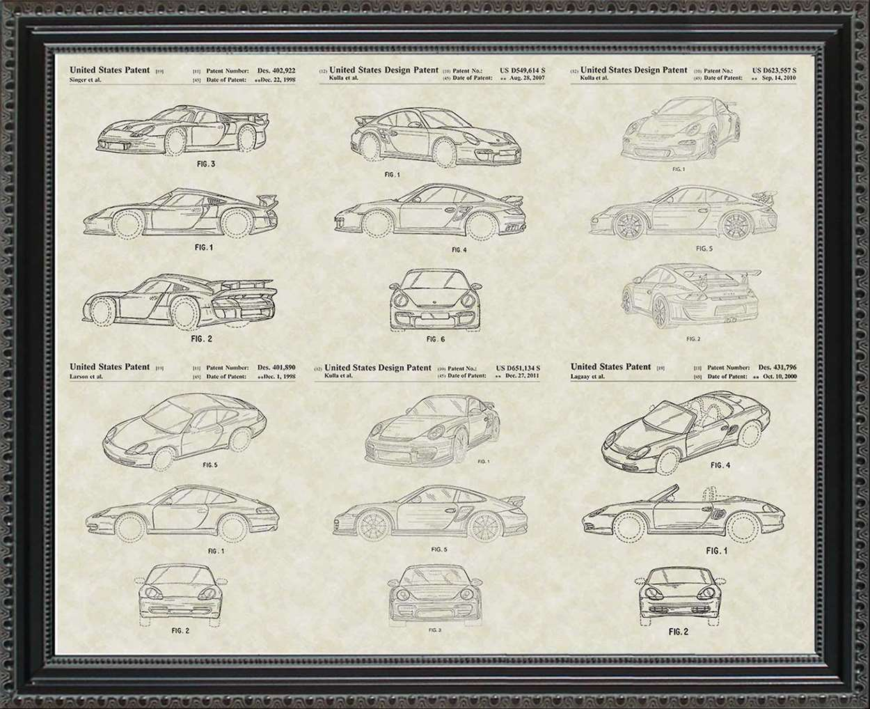 Porsche #2 Patents, 20x24