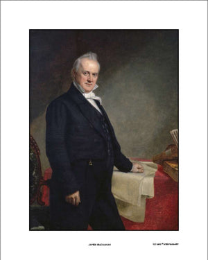 James Buchanan Official President Portrait, 16x20