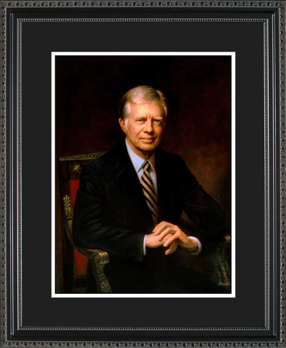 Jimmy Carter Official President Portrait, 16x20