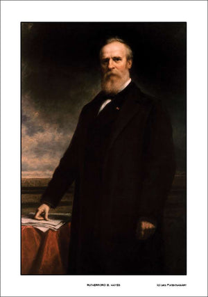 Rutherford B. Hayes Official President Portrait, 14x20