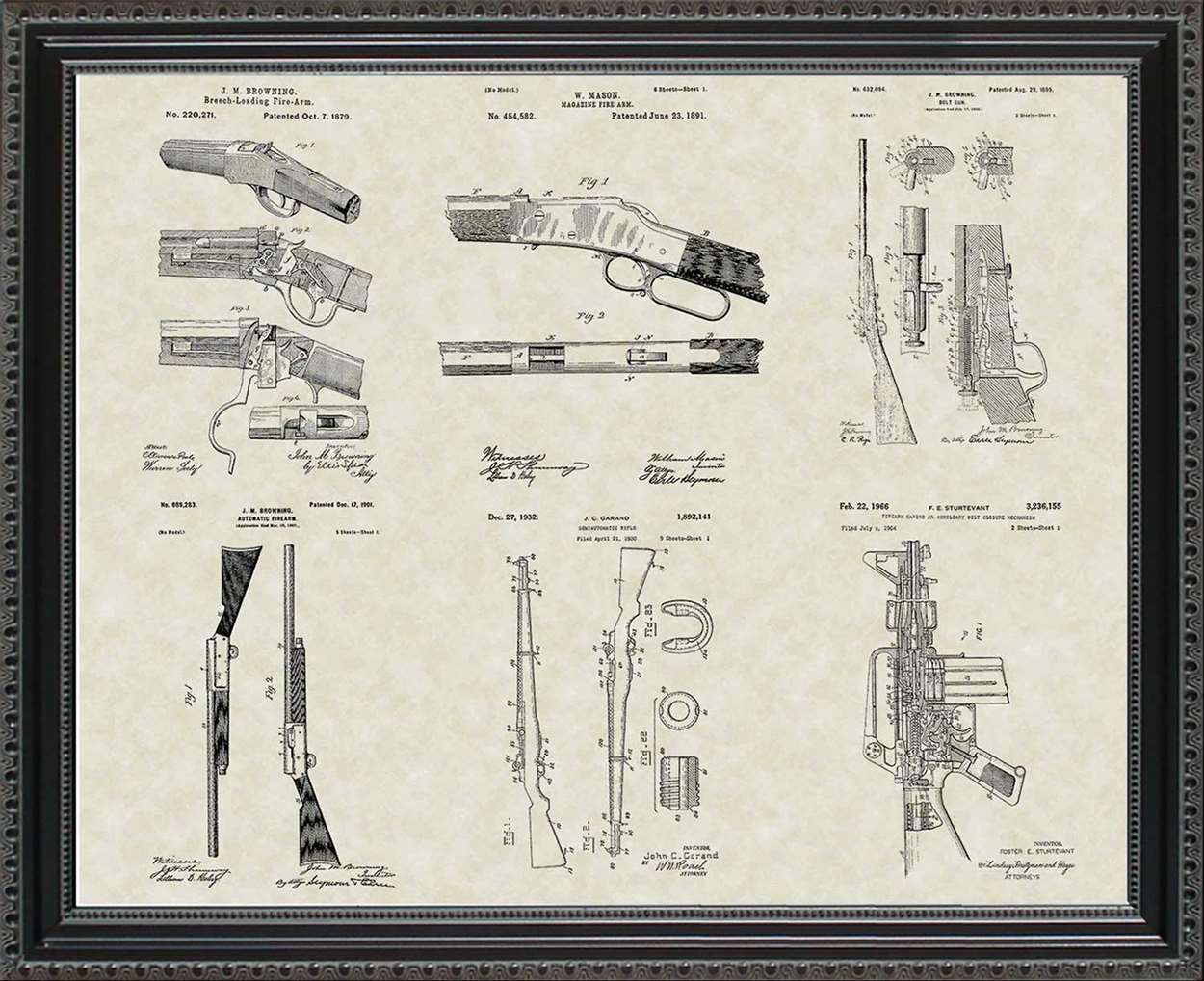 Rifles & Shotgun Patents, 20x24