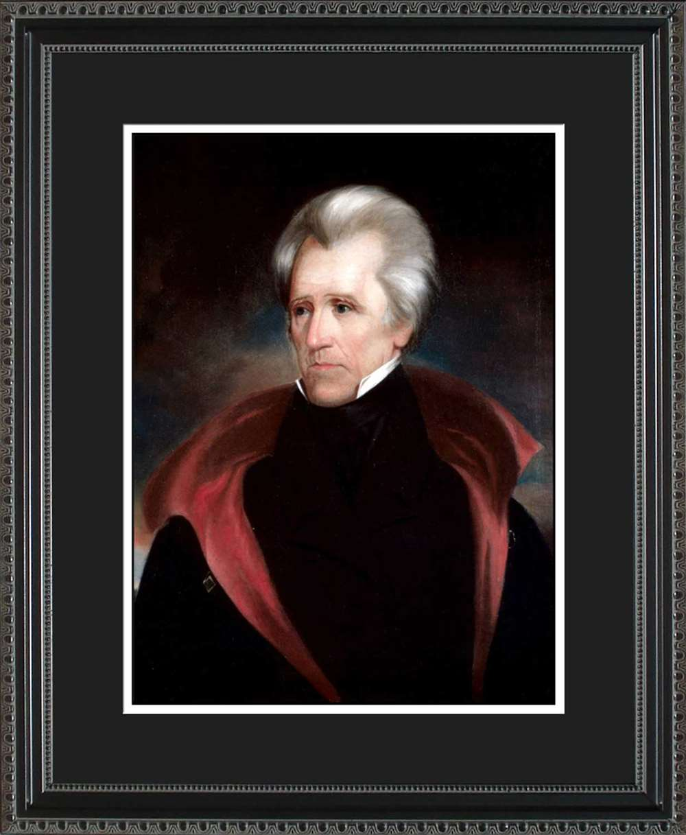 Andrew Jackson Official President Portrait, 16x20