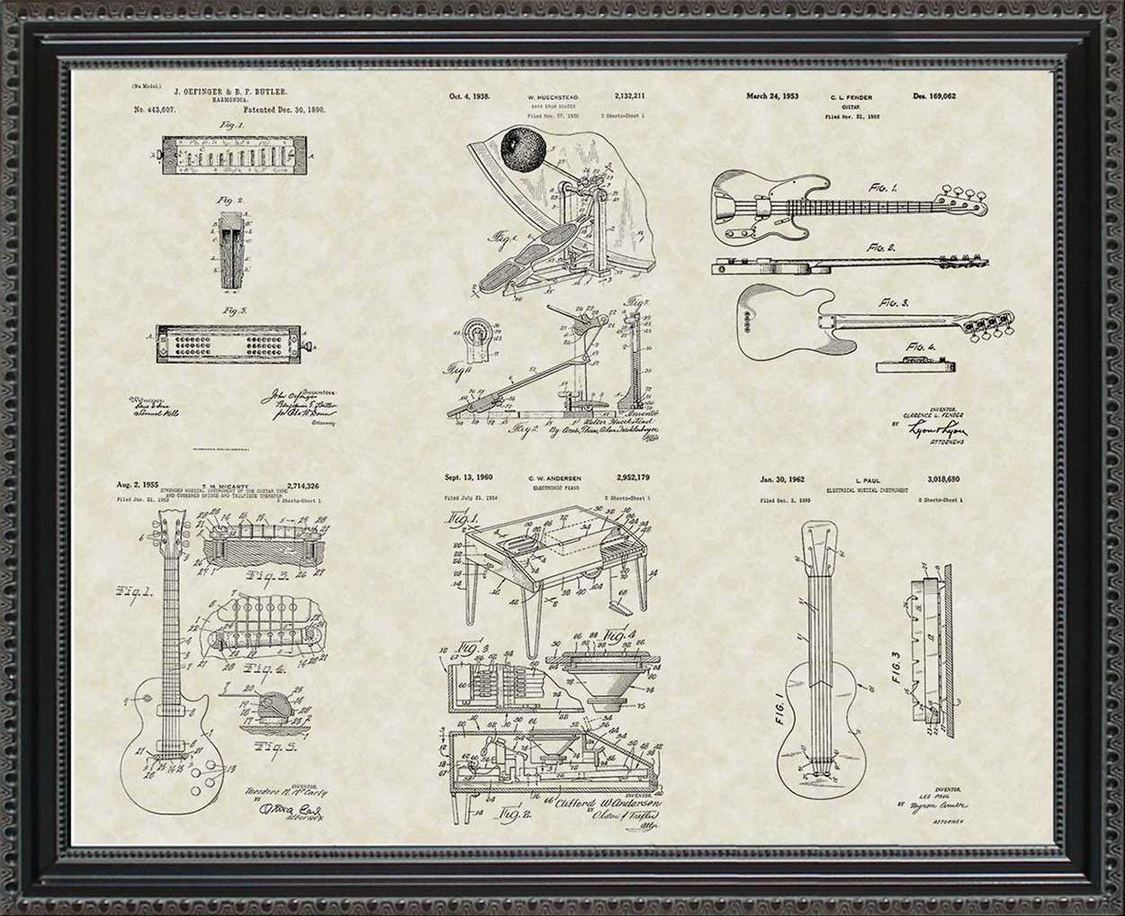 Rock Band Patents, 20x24