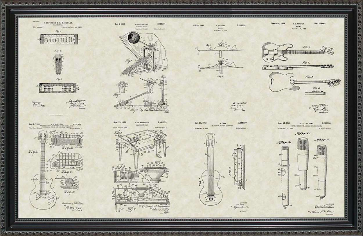 Rock Band Patents, 20x30