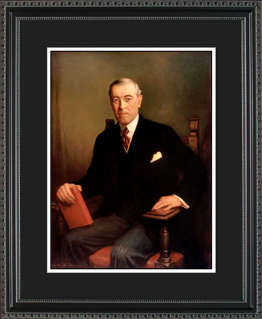 Woodrow Wilson Official President Portrait, 16x20