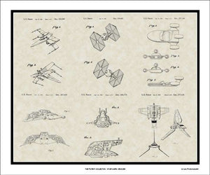 Star Wars Vehicle Patents, 20x24