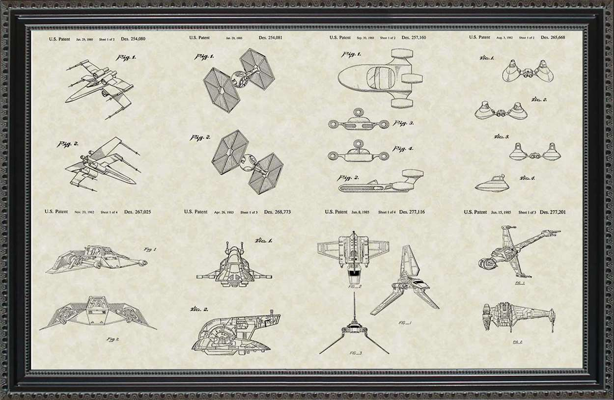 Star Wars Vehicle Patents, 20x30