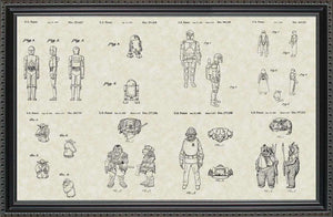 Star Wars Character Patents, 20x30