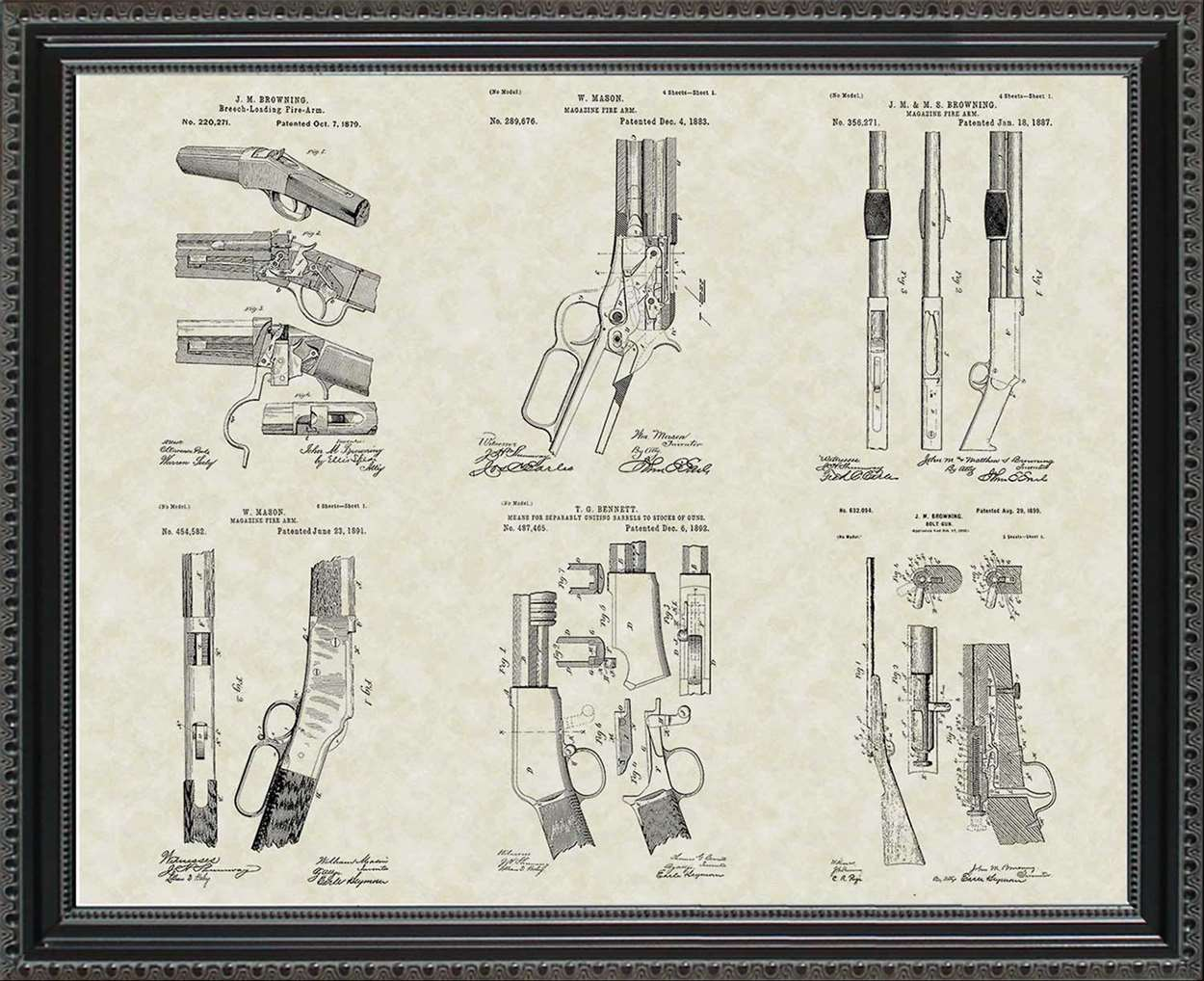 Winchester Firearm Patents, 20x24