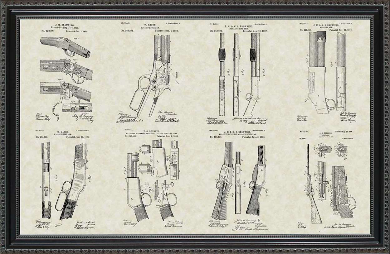 Winchester Firearm Patents, 20x30