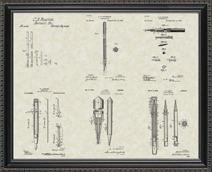 Writing Instrument Patents, 20x24