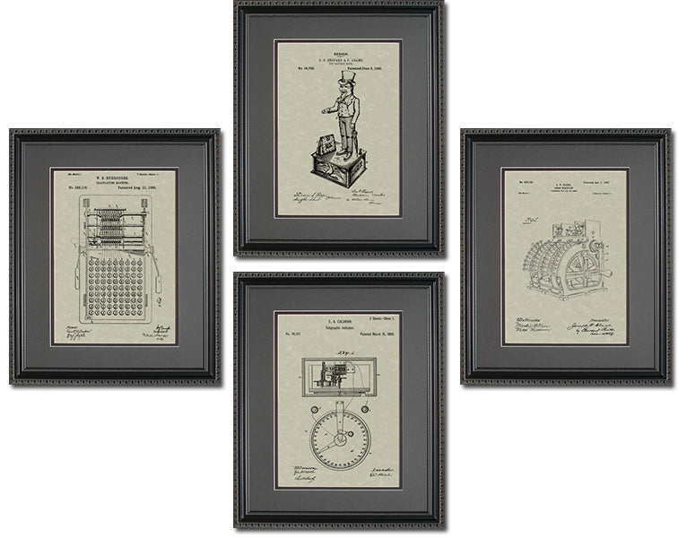 Accounting/Financial Patents Quad Frame Display