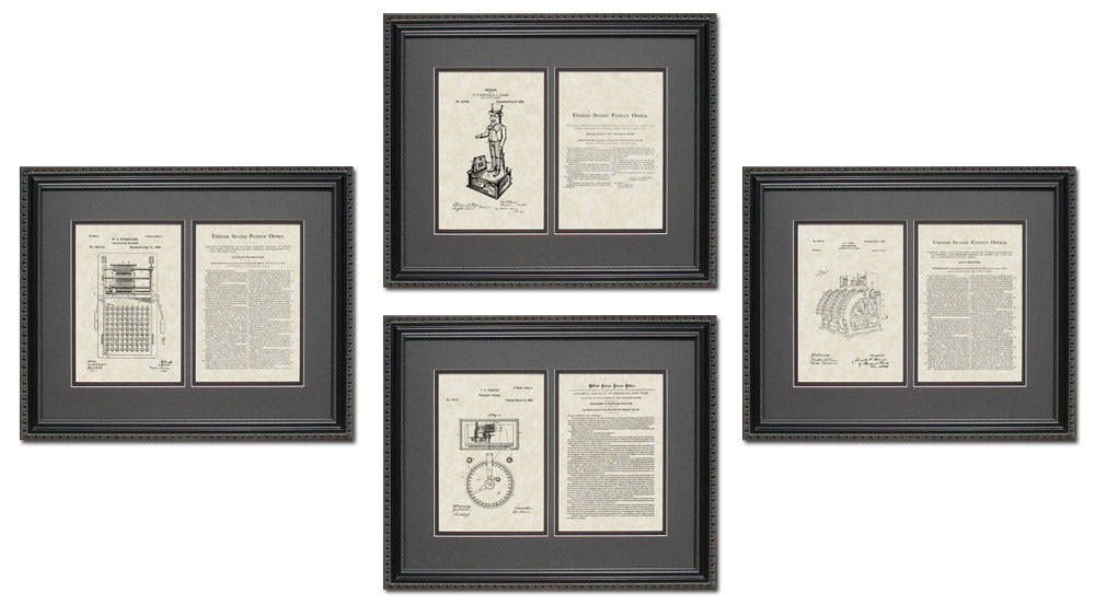 Accounting/Financial Patent Art & Copy Quad Frame Display, 16x20