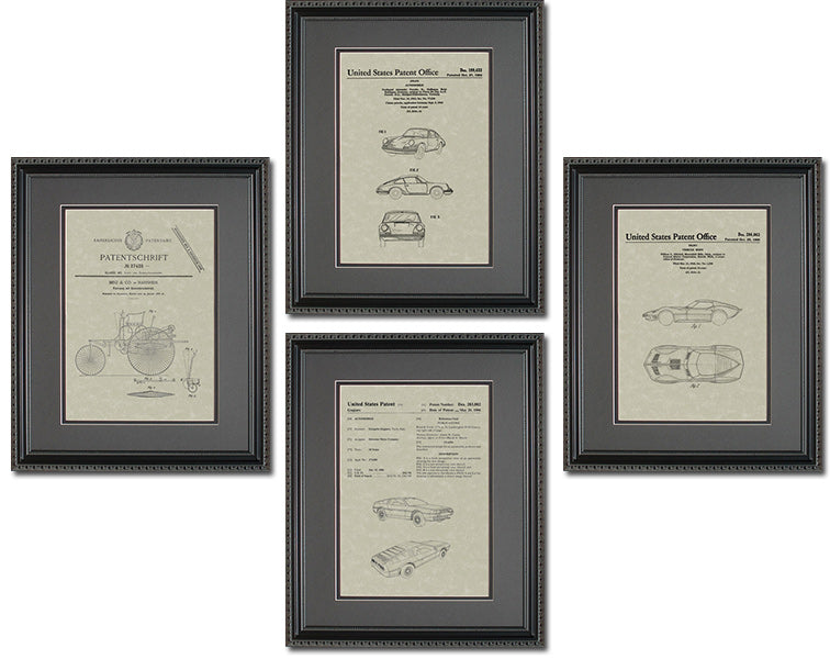 Auto Patents Quad Frame Display