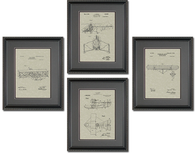 Aviation Patents Quad Frame Display