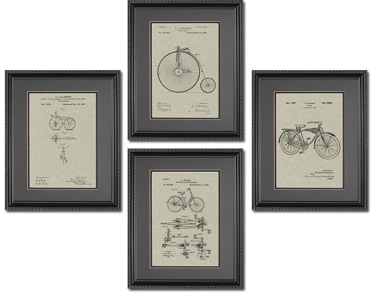 Bicycle Patents Quad Frame Display