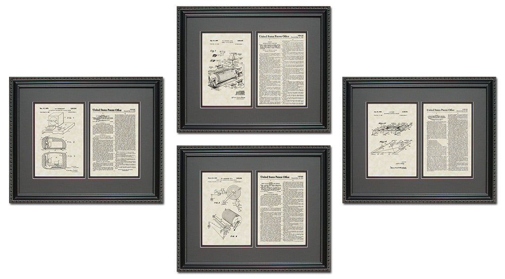 Technology Patent Art & Copy Quad Frame Display, 16x20