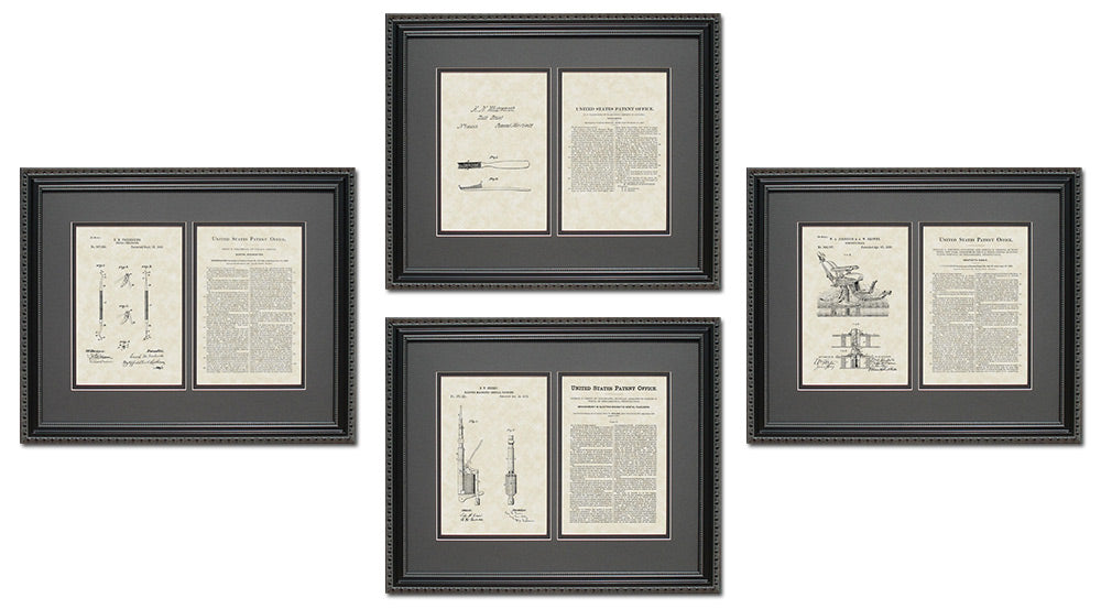 Dental Apparatus Patent Art & Copy Quad Frame Display, 16x20