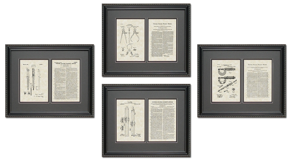 Engineering Tools Patent Art & Copy Quad Frame Display, 16x20