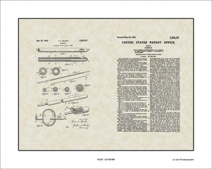 Foley Catheter Patent, Art & Copy, Raiche, 1943, 16x20