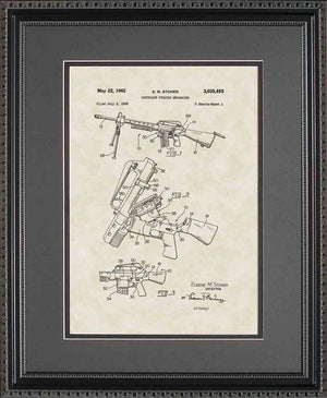 AR15 Rifle Patent Art, Stoner, 1962