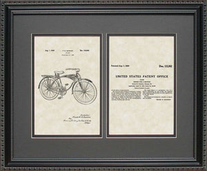 Schwinn Bicycle Patent, Art & Copy, Schwinn, 1939, 16x20