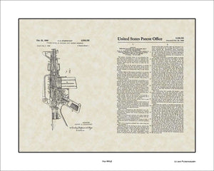 M16 Rifle Patent, Art & Copy, Sturtevant, 1966, 16x20
