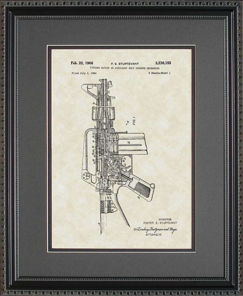 M16 Rifle Patent Art, Sturtevant, 1966
