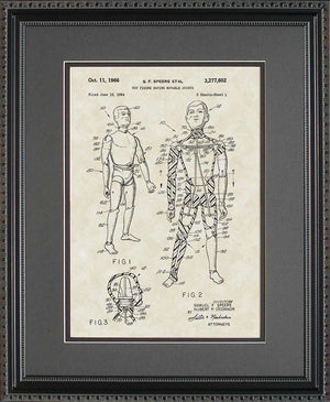 G.I. Joe Doll Patent Art, Spears, 1966