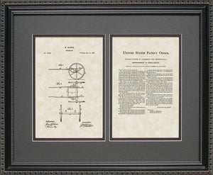 Ambulance Patent, Art & Copy, Slatter, 1865, 16x20