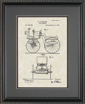 First Automobile Patent Art, Selden, 1895